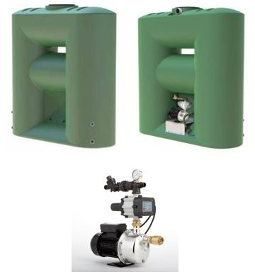 Kingston Water Tanks PACKAGE - Melro 2060L Slimline with Hyjet HHR-400