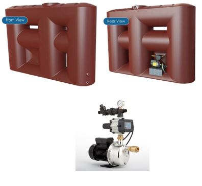 Kingston Water Tanks Package - Melro 3060L Slimline with Hyjet HHR-400