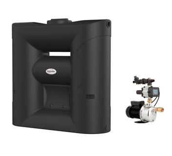 Polymaster 2020 Litre slimline poly water tank with pump recess