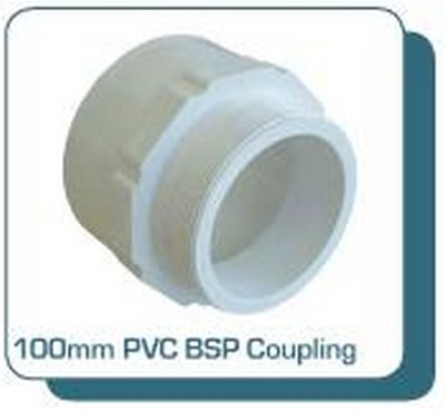 Kingston Water Tanks Tankmasta Underground Tank Accessories - 100mm PVC BSP Coupling