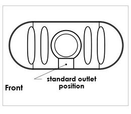 Kingston Water Tanks Melro 2030L Underdeck Tank Outlet Position