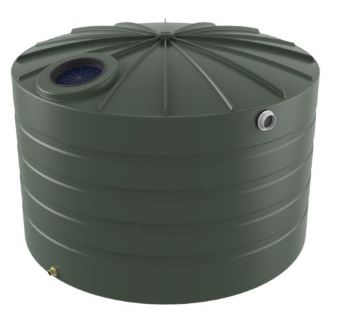 Kingston Water Tanks Bushmans 4000L Round Squat Poly Tank