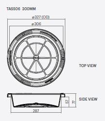 Kingston Water Tanks 300mm Water Tank Strainer Basket Specs